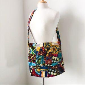 African printed cross body bag